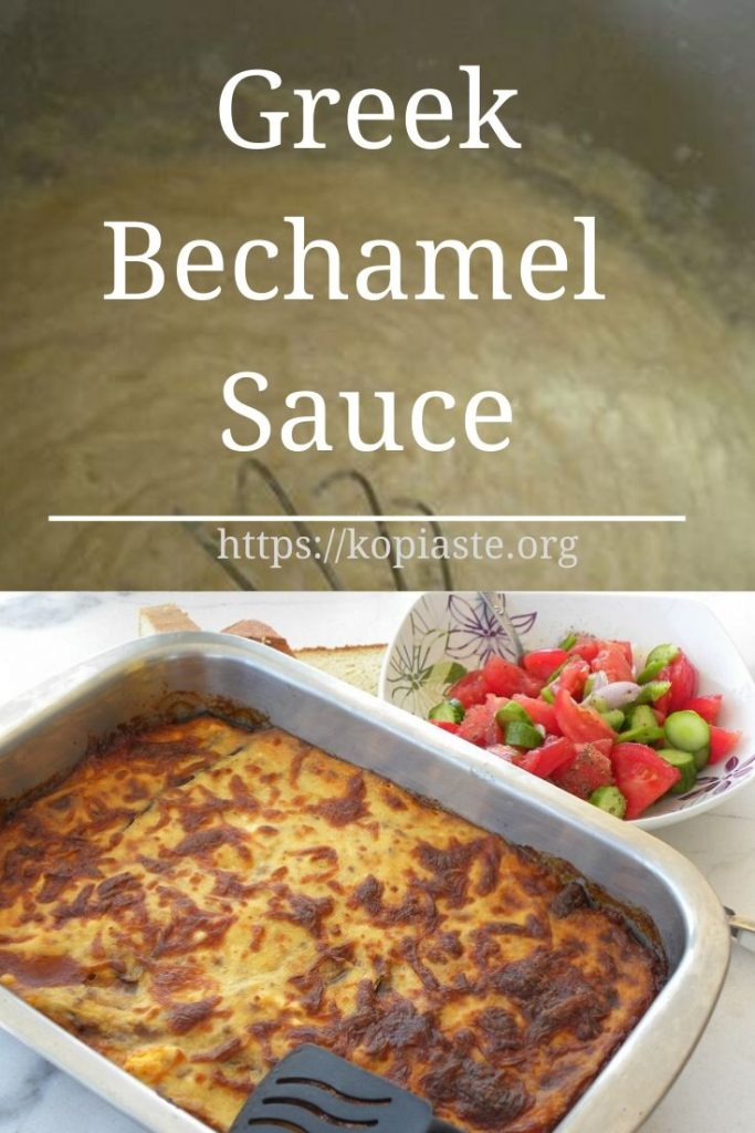 Collage Greek Bechamel Sauce picture