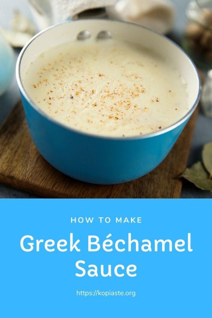 Collage How to Make Greek Béchamel Sauce image
