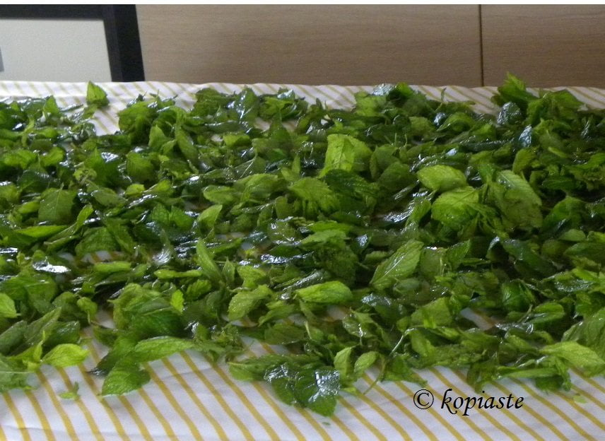 how to dry and preserve mint and other herbs kopiaste to greek hospitality. Black Bedroom Furniture Sets. Home Design Ideas