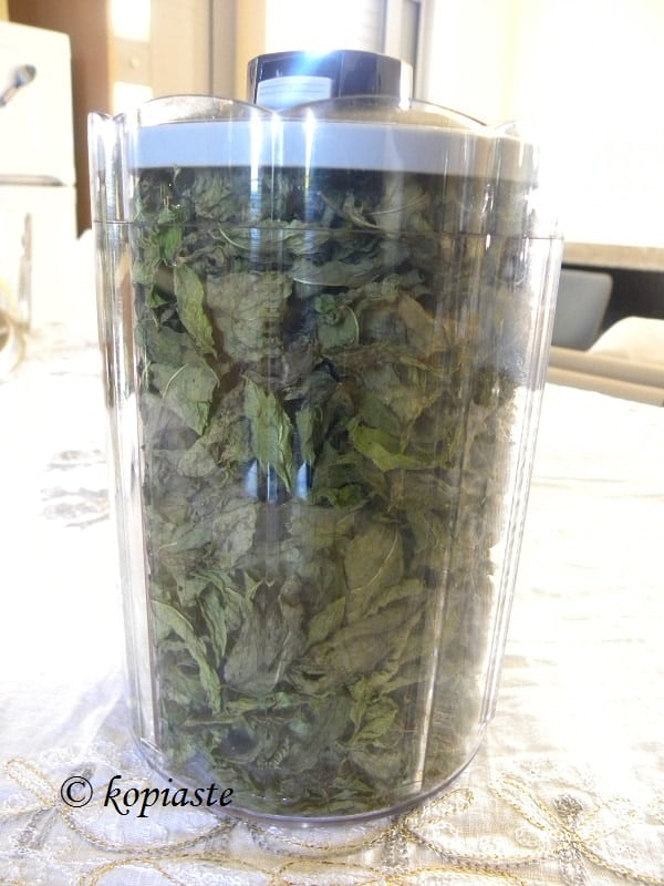 Drying mint 1