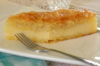 Galaktoboureko pastry image