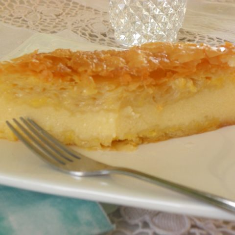 Galaktoboureko (Greek semolina Pudding wrapped in phyllo)