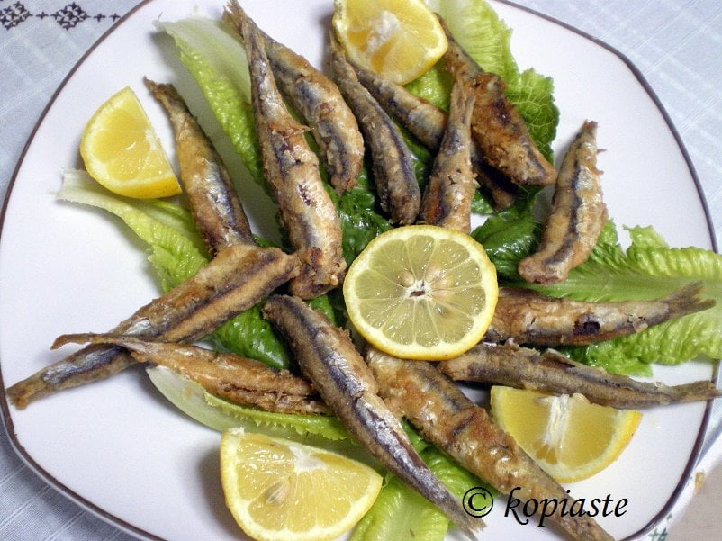 Gavros fried anchovies image