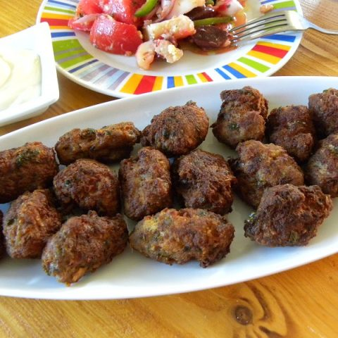 Greek meatballs keftedes image