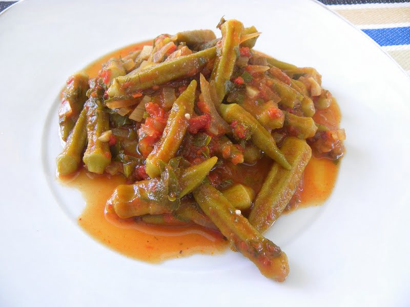 Mpamies okra in tomato sauce image