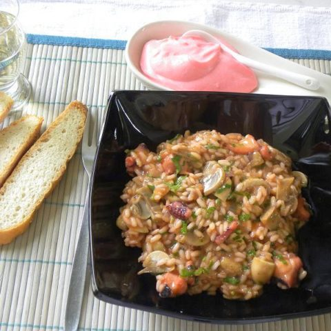 Octopus risotto image