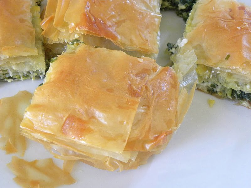 Spanakopita with store bought phyllo photo
