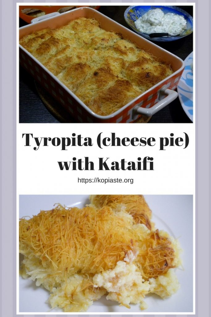collage Tyropita with Kataifi picture