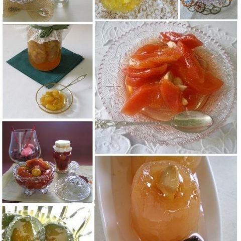 collage various fruit preserves image