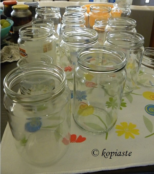 how to sterilize jars for preserving fruits and vegetables