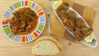 How to Prepare Okra and Stewed Okra (Mpamies Giahni)