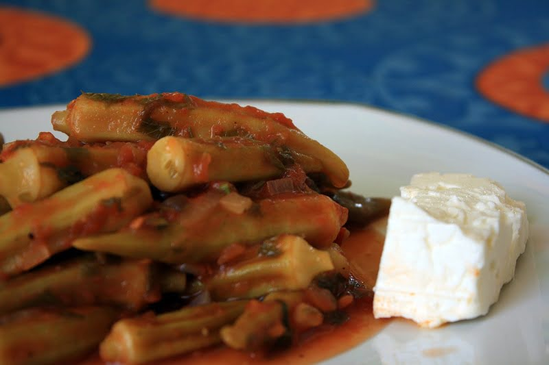 okra with feta image