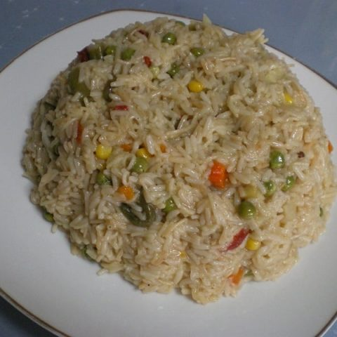Rice pilaf with vegetables image