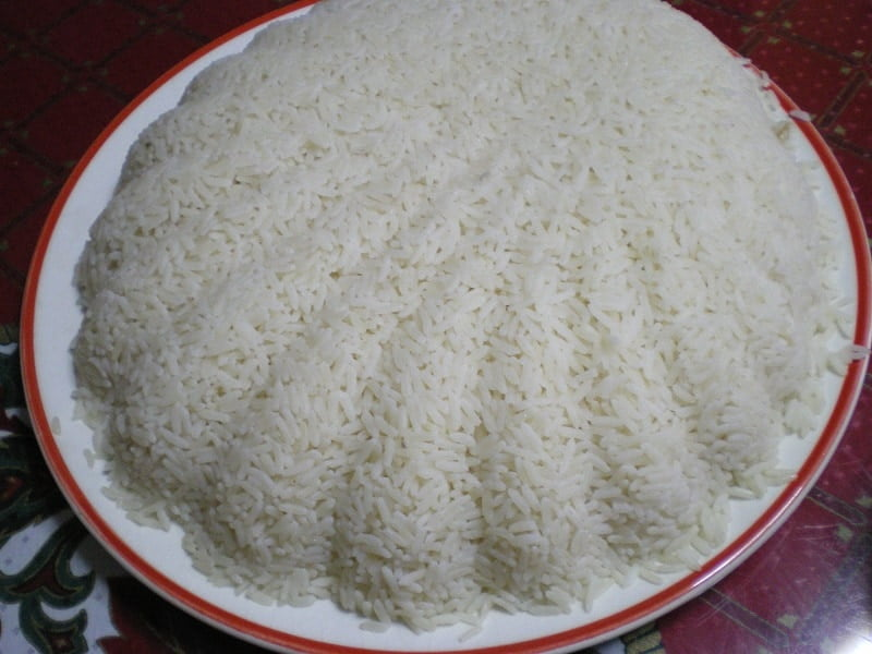 plain rice pilaf image