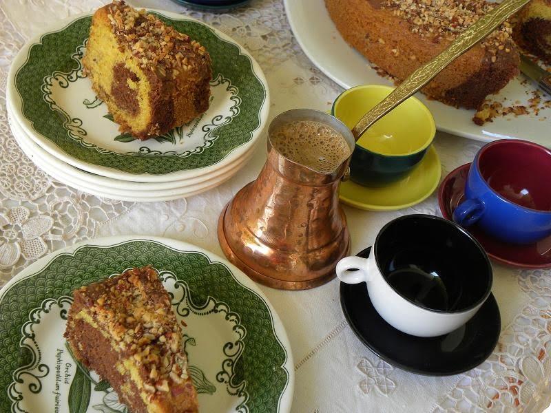 Cake with Greek Coffee image