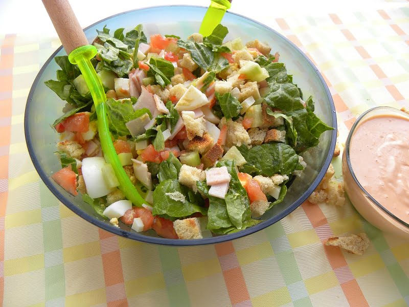 Easy To Make Chefs Salad And Thousand Island Dressing Kopiaste