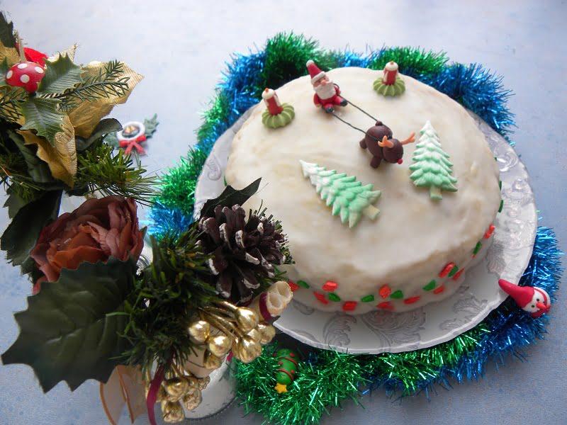 English Traditional Christmas cake
