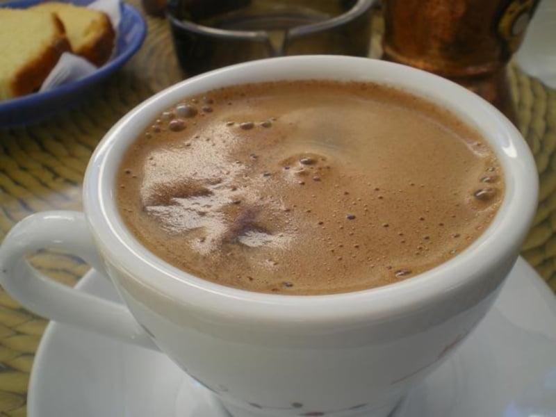Greek coffee with kaimaki image