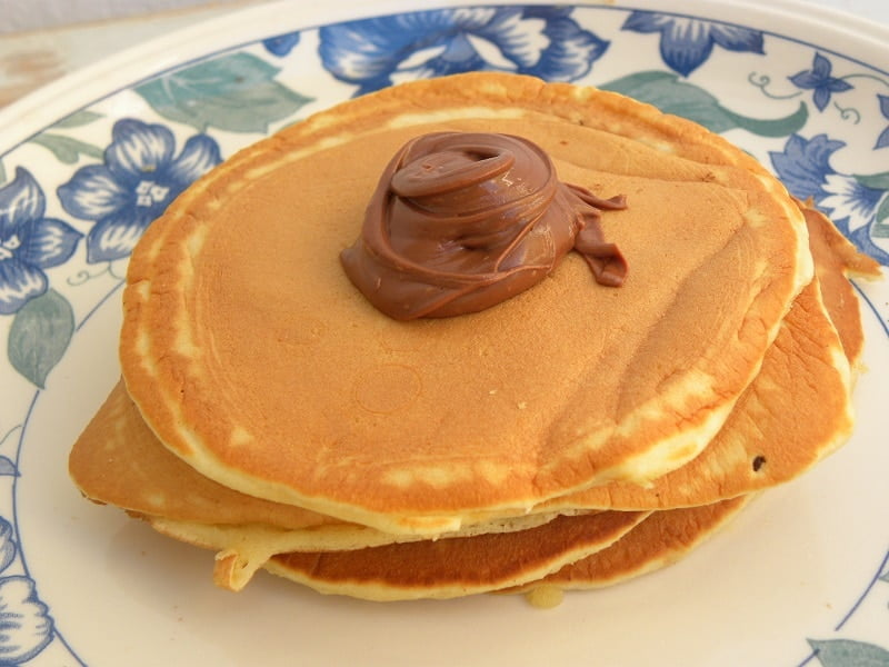 Pancakes with chocolage photograph