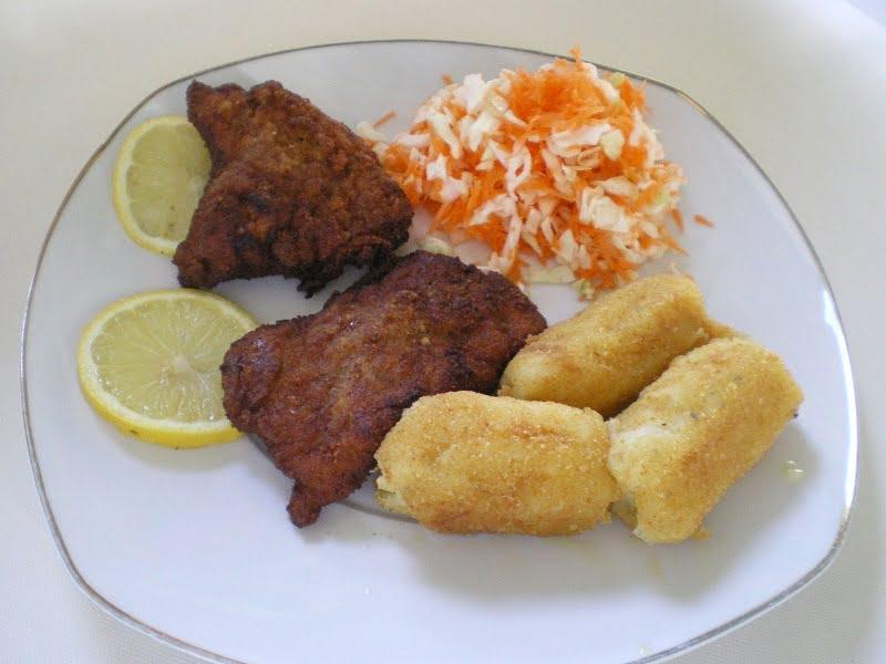 Potato Croquettes with schnitzel image