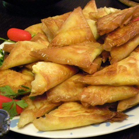 Tyropitakia (Cheese Triangles with Feta)