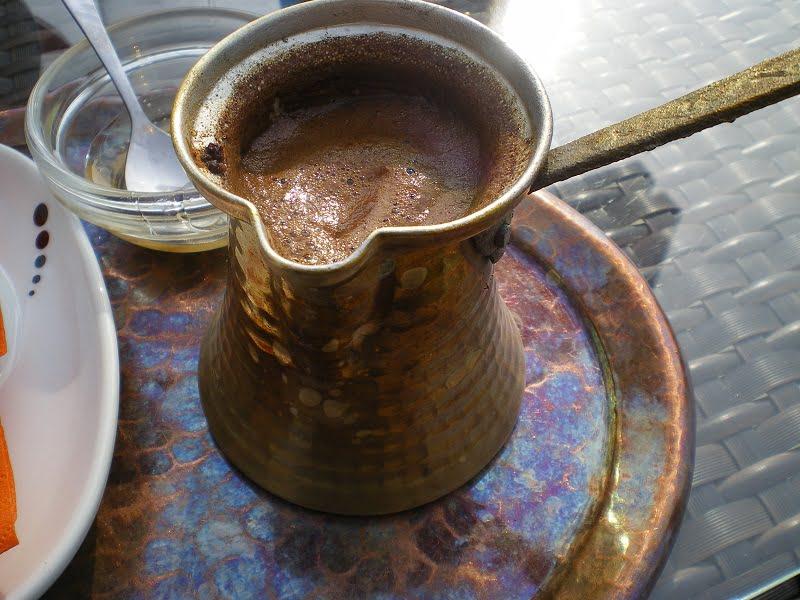 coffee in copper briki image