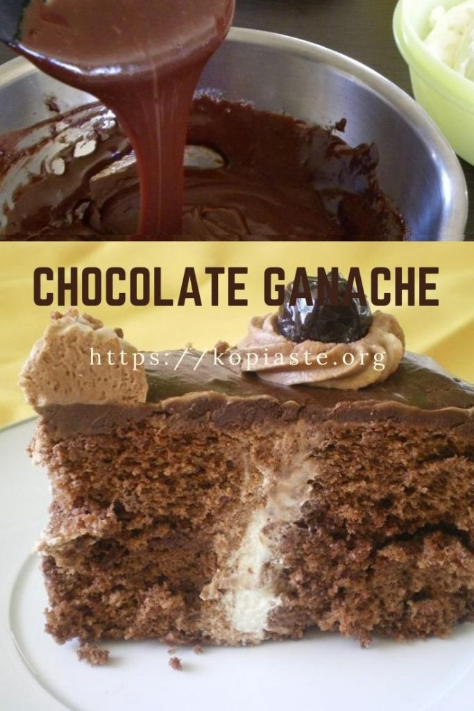 collage chocolate ganache image