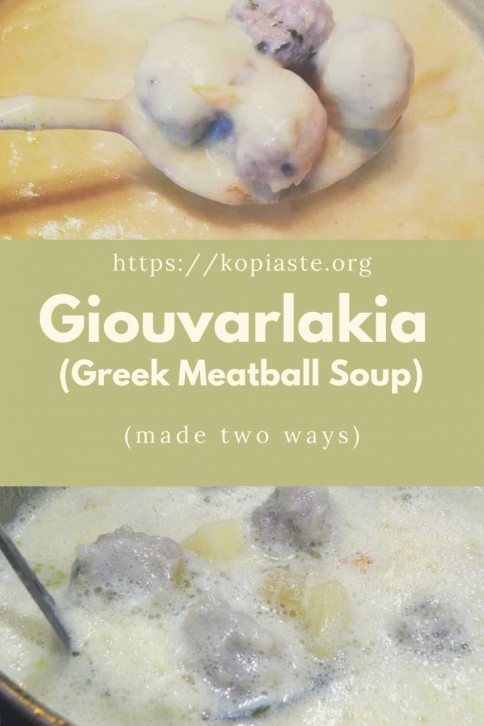 Collage Giouvarlakia soup image