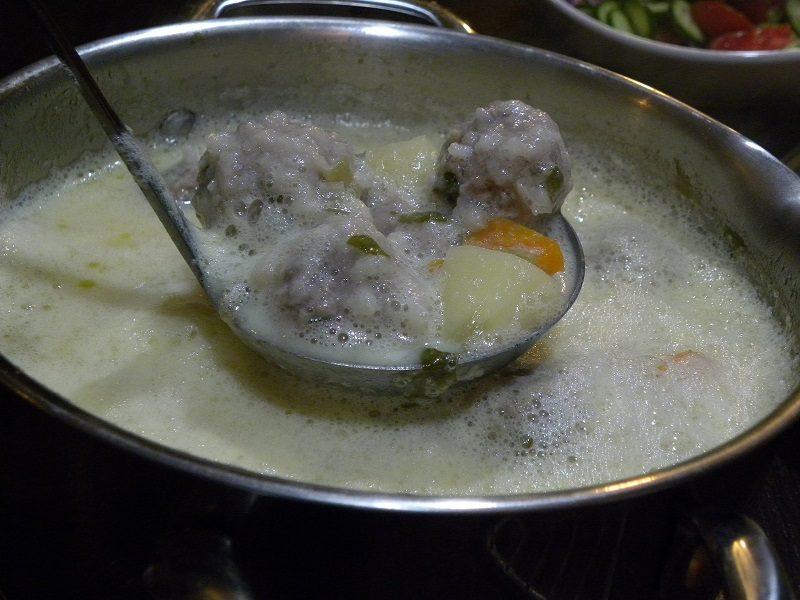 Mirepoix Giouvarlakia soup image