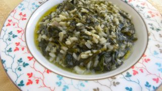 Spanakoryzo (Spinach and Rice) and Spinach Risotto