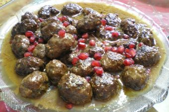 Greek Meatballs keftedes with pomegranate image