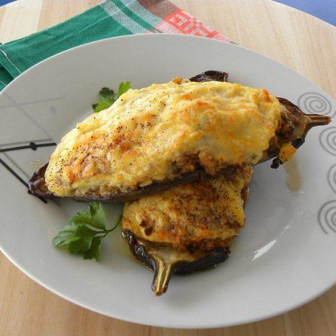 Melitzanes Papoutsakia (Stuffed Eggplants)