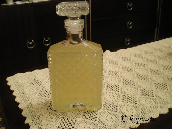 bergamot liqueur in a bottle