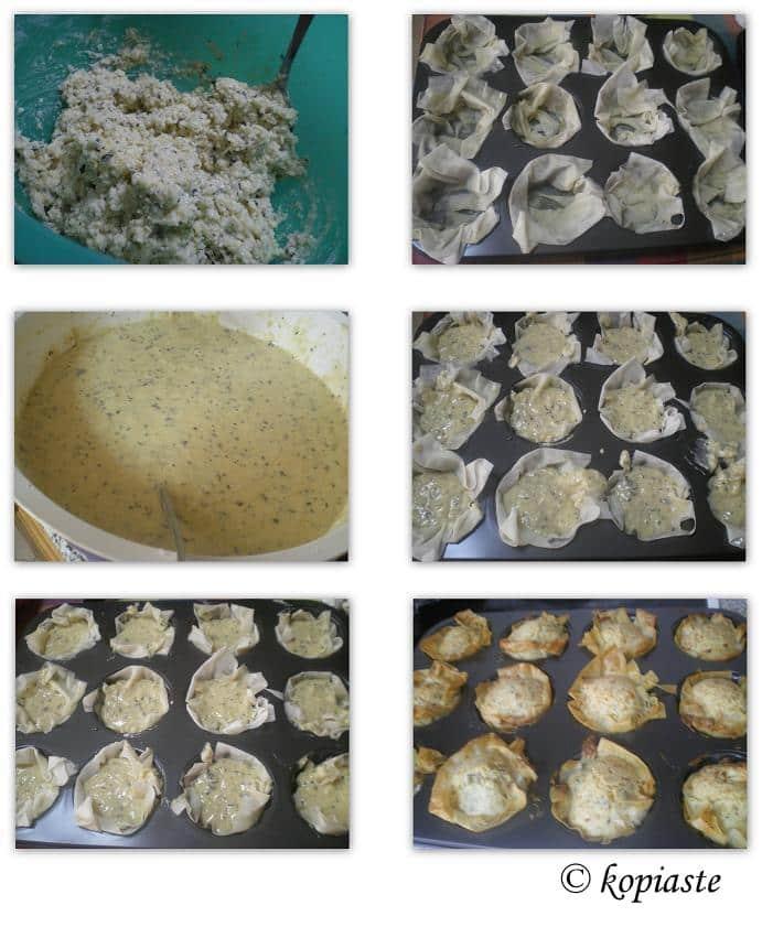 collage halloumi muffins image