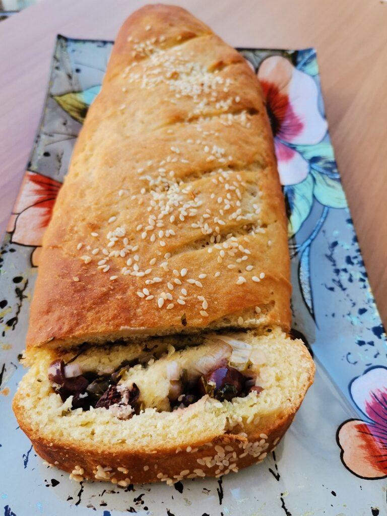 eliopita with Kalamata olives image