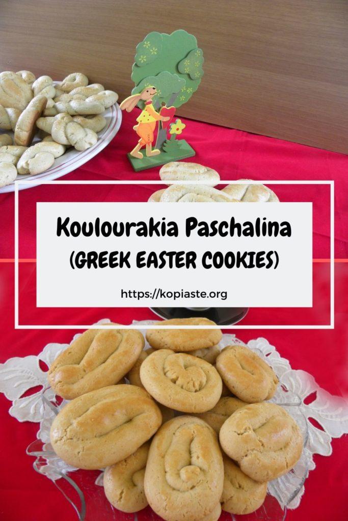 Collage Greek Easter Cookies image.