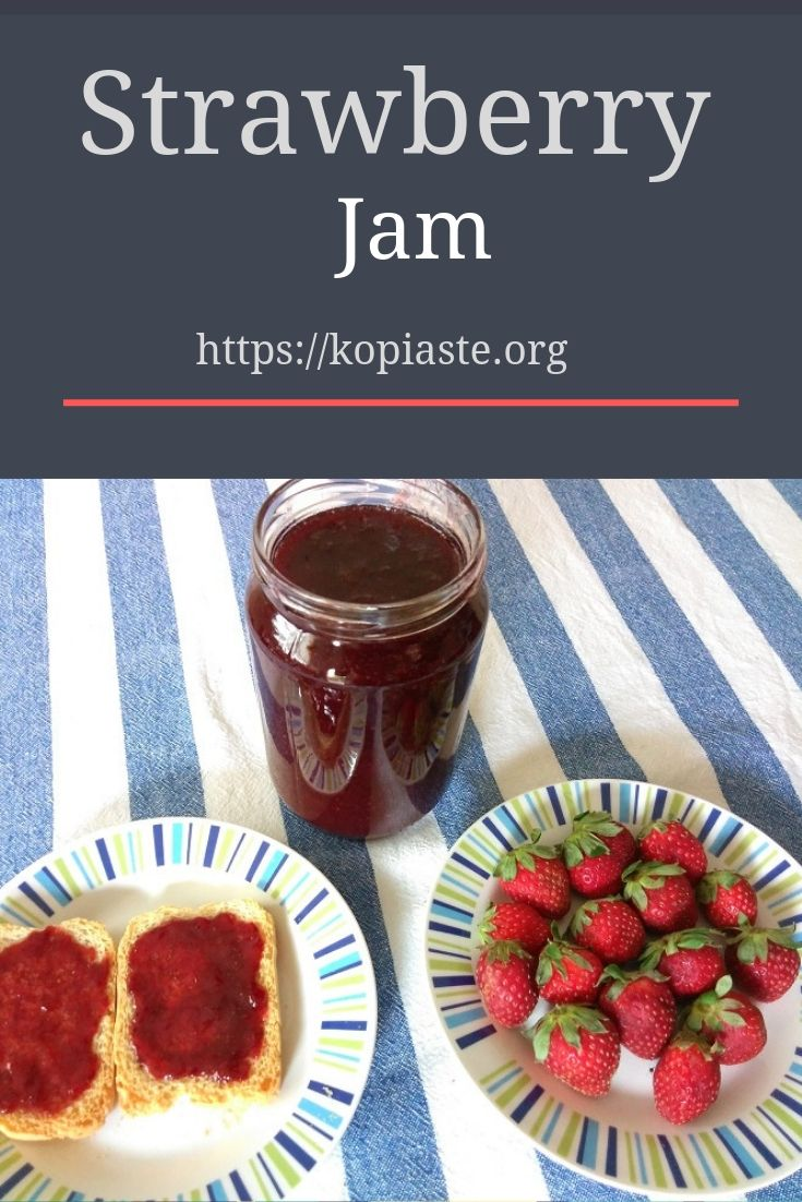 Collage strawberry jam image