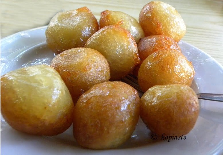 Loukoumades or lokmades with syrup image