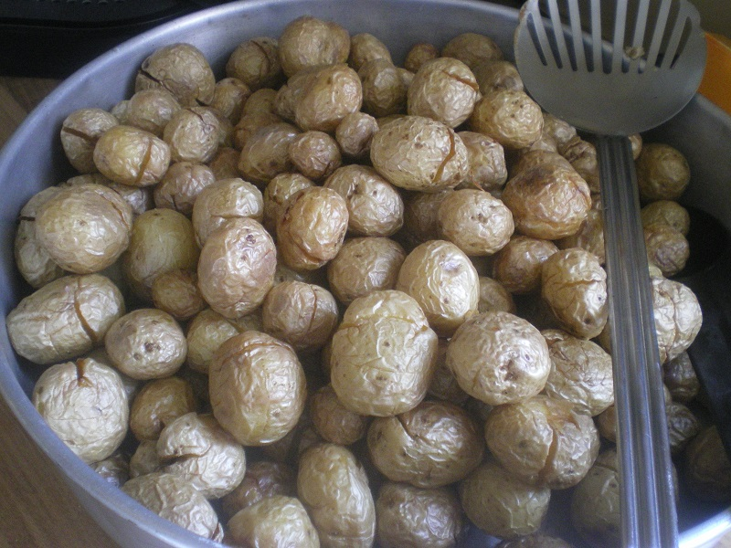 fried baby potatoes image