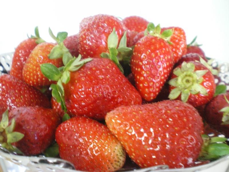 Raw strawberries image