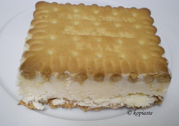 Hand Made Vanilla Ice Cream Sandwich
