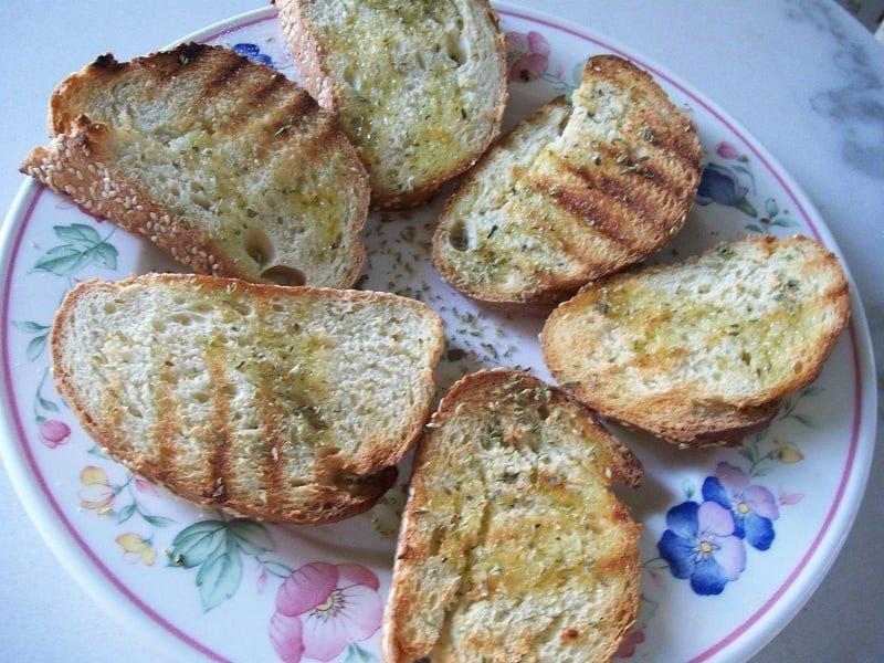 Bread with ladolemono and rigani image