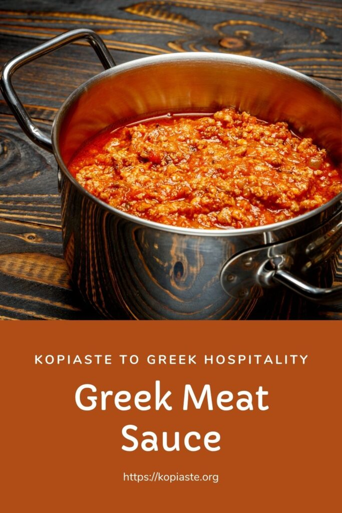 Collage Greek Meat Sauce image