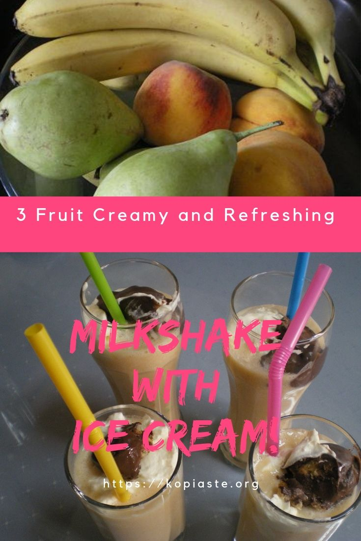 Collage fruit and milk shakes image