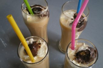 Glasses with milkshakes image