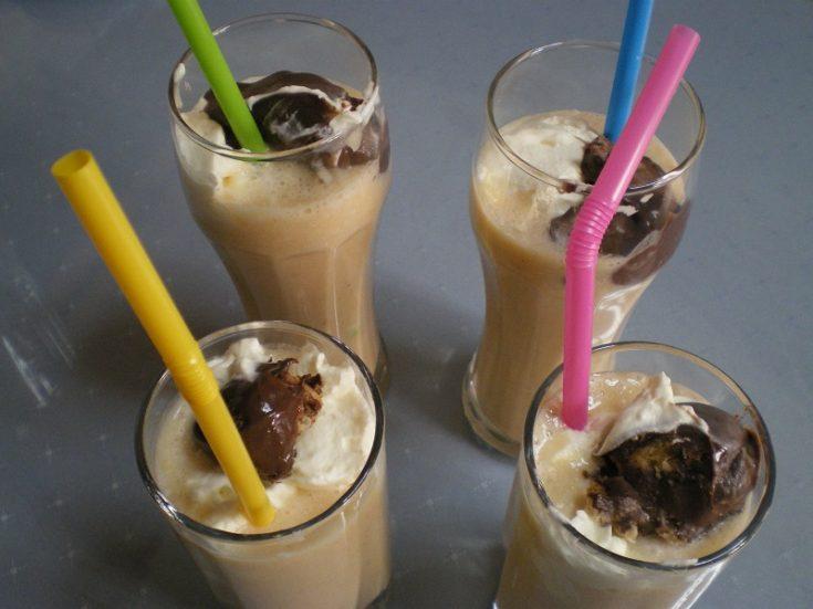 Milkshake with 3 fruit, ice cream and whipped cream
