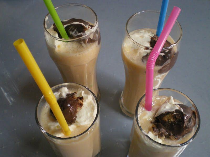 Glasses with milkshakes image
