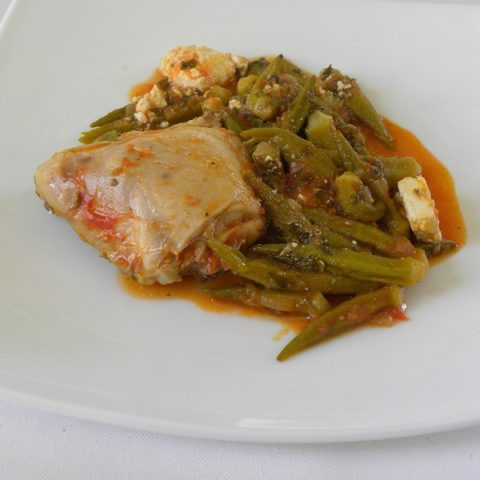 Stewed chicken and okra image
