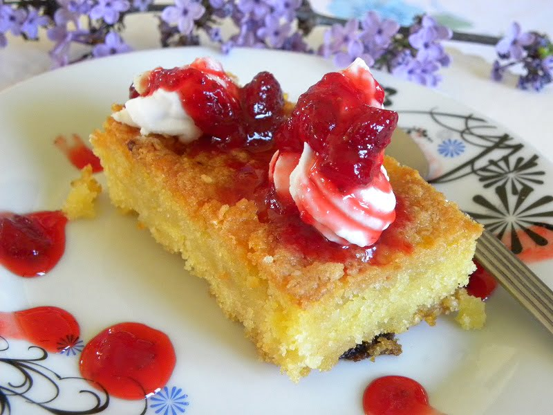 Vegan Coconut Mandarin Samali (Semolina Cake) with Vegan Whipped Cream