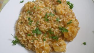Greek Saffron Shrimp Risotto
